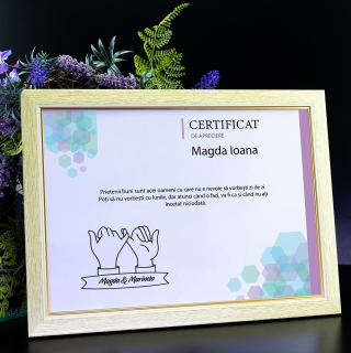 Cadou personalizat Diploma personalizata - Cea mai buna prietena